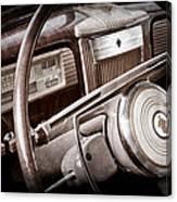 1941 Packard Steering Wheel Emblem Canvas Print