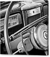 1941 Packard Steering Wheel Canvas Print