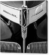 1941 Studebaker Champion Hood Emblem Canvas Print