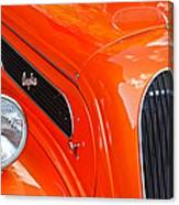 1948 Anglia 2-door Sedan Grille Emblem Canvas Print