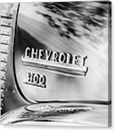 1949 Chevrolet 3100 Pickup Truck Emblem Canvas Print