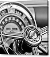 1949 Chrysler Town And Country Convertible Steering Wheel Emblem Canvas Print