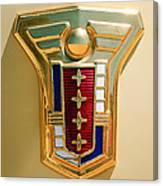 1949 Mercury Station Wagon Emblem Canvas Print