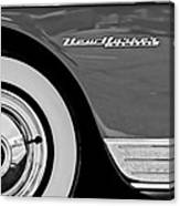 1950 Chrysler New Yorker Coupe Wheel Emblem Canvas Print
