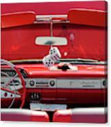 1950s Chevrolet Impala Detail Canvas Print