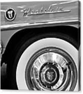 1951 Mercury Montclair Convertible Wheel Emblem Canvas Print