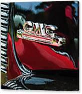 1952 Gmc Suburban Emblem Canvas Print