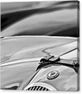 1952 Jaguar Xk 120 John May Speciale Hood Emblem Canvas Print