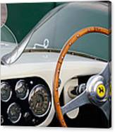 1953 Ferrari 340 Mm Lemans  Spyder Steering Wheel Emblem Canvas Print