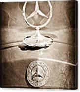1953 Mercedes Benz Hood Ornament Canvas Print