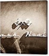1953 Nash-healey Roadster Emblem Canvas Print