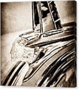 1953 Pontiac Hood Ornament Canvas Print
