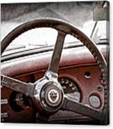 1954 Jaguar Xk120 Roadster Steering Wheel Emblem Canvas Print