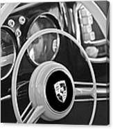 1954 Porsche 356 Bent-window Coupe Steering Wheel Emblem Canvas Print