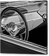 1955 Chevrolet 210 Steering Wheel Canvas Print