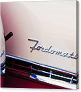 1955 Ford Crown Victoria Fordomatic Emblem Canvas Print