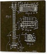 1955 Gibson Les Paul Patent Drawing Canvas Print