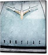 1955 Pontiac Safari Hood Ornament - Emblem Canvas Print