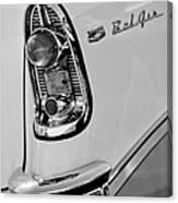 1956 Chevrolet Belair Taillight Emblem Canvas Print
