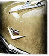 1956 Chevrolet Hood Ornament - Emblem Canvas Print