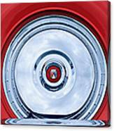 1956 Ford Thunderbird Spare Tire Emblem Canvas Print