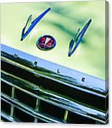 1956 Hudson Rambler Station Wagon Grille Emblem - Hood Ornament Canvas Print