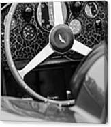 1957 Aston Martin Dbr2 Steering Wheel Canvas Print