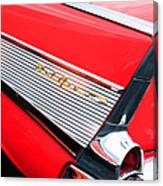 1957 Chevrolet Belair Convertible Taillight Emblem Canvas Print
