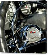 1957 Chevrolet Belair Steering Wheel Canvas Print