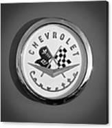 1957 Chevrolet Corvette Emblem Canvas Print