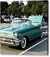 1957 Chevy Bel Air Green Canvas Print