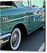 1957 Chevy Bel Air Green Right Side Canvas Print