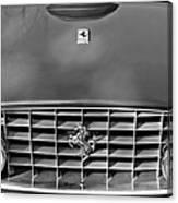 1957 Ferrari 410 Superamerica Coupe Grille Emblem Canvas Print