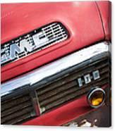 1957 Gmc V8 Pickup Truck Grille Emblem Canvas Print