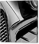 1957 Studebaker Golden Hawk Hardtop Grille Emblem Canvas Print