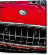 1958 Chevrolet Corvette Grille Canvas Print
