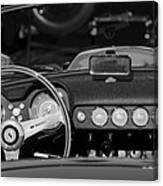 1958 Ferrari 250 Gt Lwb California Spider Steering Wheel Emblem -  Dashboard Canvas Print