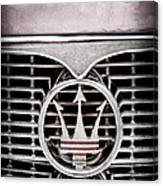 1958 Maserati Hood - Grille Emblem Canvas Print
