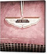 1959 Aston Martin Db Mk IIib Drophead Coupe Emblem Canvas Print