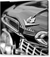 1959 Chevrolet Grille Emblem Canvas Print