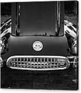 1959 Chevy Corvette Convertible Bw  Canvas Print