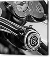 1959 Fiat Bianchina Semi-convertible Series II Steering Wheel Canvas Print
