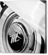 1959 Nash Metropolitan 1500 Convertible Wheel Emblem Canvas Print