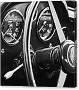 1960 Aston Martin Db4 Gt Coupe' Steering Wheel Emblem Canvas Print