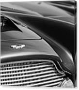 1960 Aston Martin Db4 Series II Grille - Hood Emblem Canvas Print