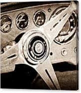 1960 Maserati Steering Wheel Emblem Canvas Print