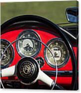 1961 Alfa-romeo Giulietta Spider Steering Wheel Emblem Canvas Print