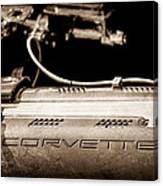 1961 Chevrolet Corvette Engine Canvas Print
