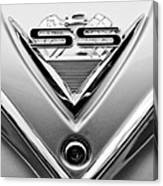 1961 Chevrolet Ss Impala Emblem Canvas Print
