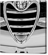 1962 Alfa Romeo Giulietta Coupe Sprint Speciale Grille Emblem Canvas Print